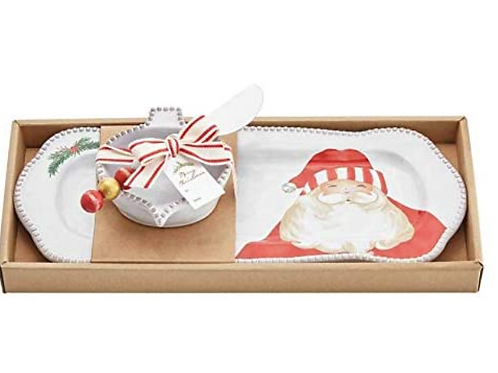MudPie Santa DIP and Tray Set