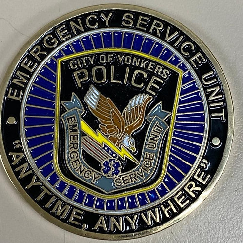 City of Yonkers Emergency Service Unit Challenge Coin