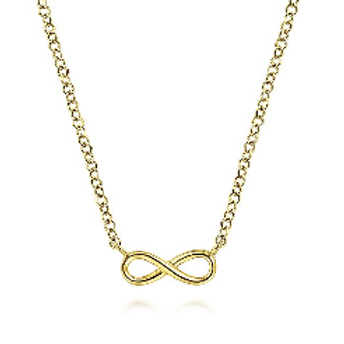 Gabriel & Co. - 14K Yellow Gold Infinity Pendant Necklace