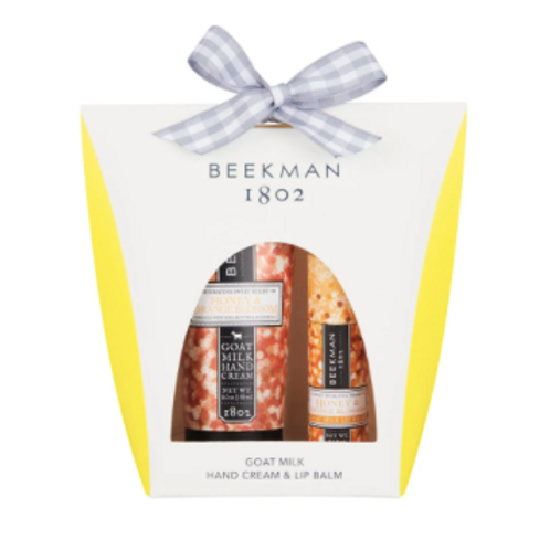 Beekman Honey & Orange Blossom 2oz Hand cream and Lip Balm Set