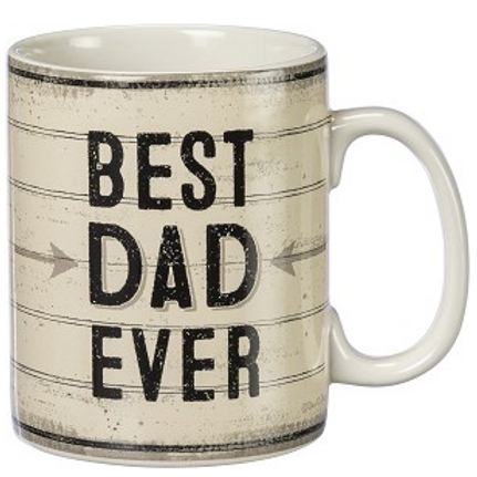 Best Dad Ever Double Sided Stoneware Coffee Mug 20 Ounce