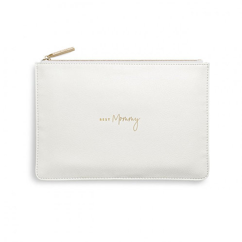 Kaite Loxton Perfect Pouch | Best Mommy | White