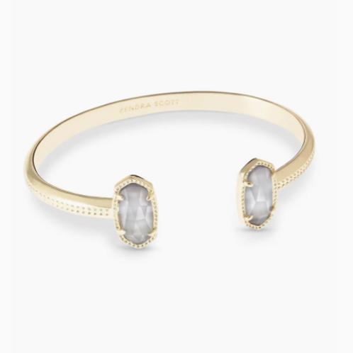 Kendra Scott Elton Gold Cuff Bracelet in Slate
