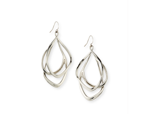 Alexis Bittar - Silvertone Orbit Wire Drop Earrings