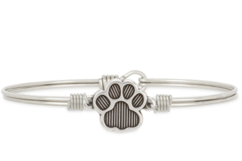 Luca & Danni Pawprint Bangle Bracelet -Regular