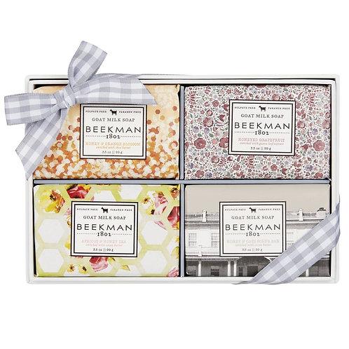 BEEKMAN Goat Milk Bar Soap Gift Box Set of 4
