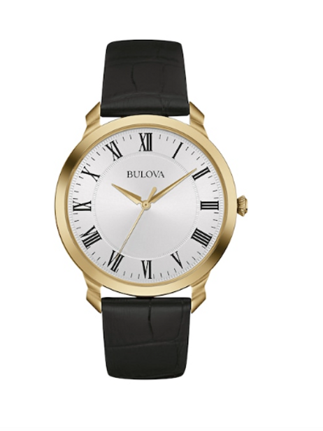 Bulova Men's Classic Leather Watch