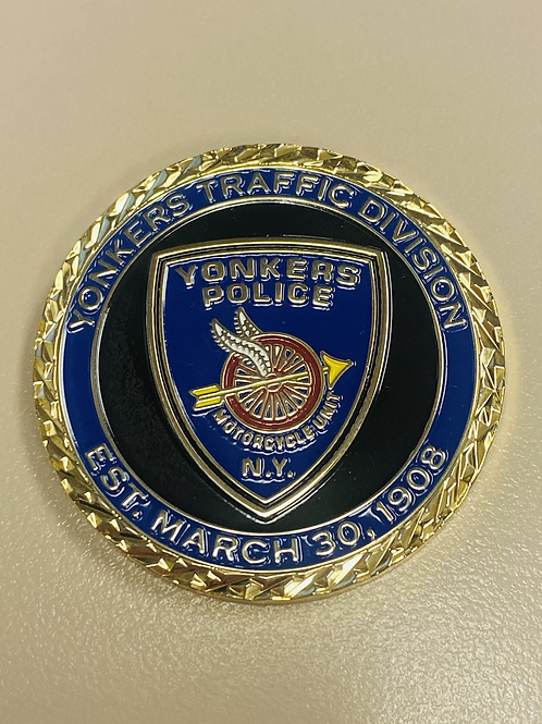 """1.75"""" YPD Traffic Division Challenge Coin"""