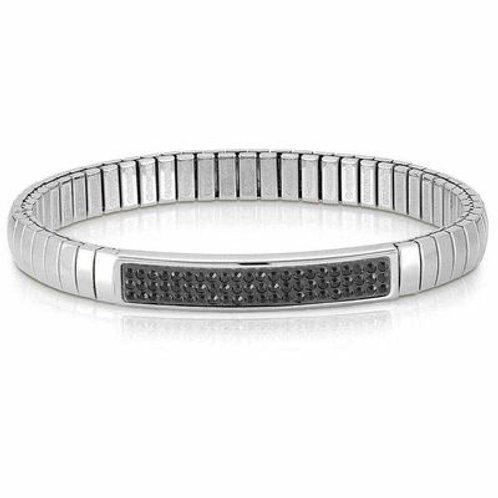 NOMINATION Stainless Steel Glitter Stretch Bracelet with Swarovski Crystals