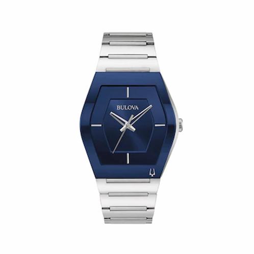 Bulova Men's Gemini Silver-Tone Stainless Steel Watch