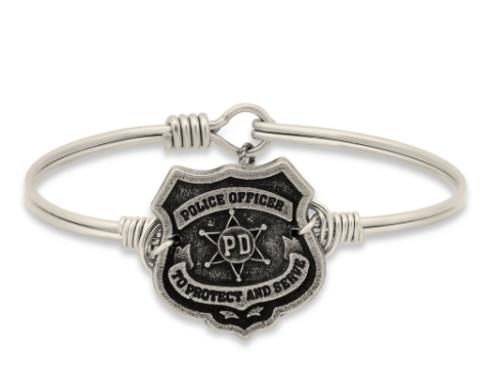 Luca & Danni Police Bangle Bracelet-Regular