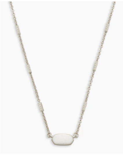 Kendra Scott -  Fern Pendant Necklace In Bright Silver