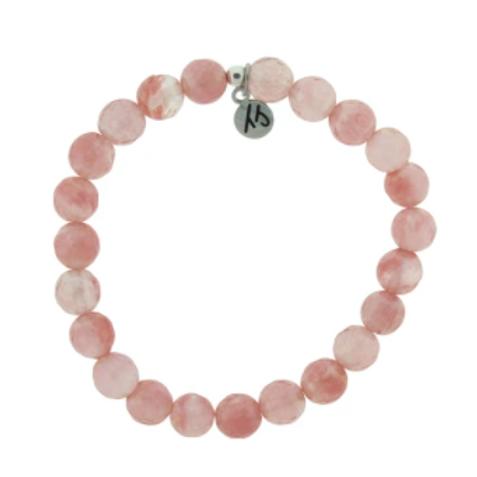 T.Jazelle Defining Bracelet- Love Bracelet with Watermelon Quartz Gemstones