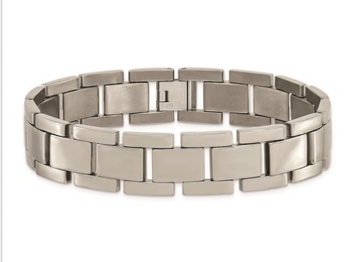 Titanium Polished 8.5 in Bracelet