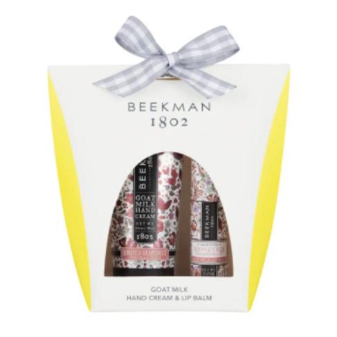 Beekman Honey Grapefruit 2oz Hand cream and Lip Balm Set
