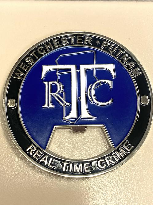 "2.75"" RTC- REAL TIME CRIME BOTTLE OPENER"