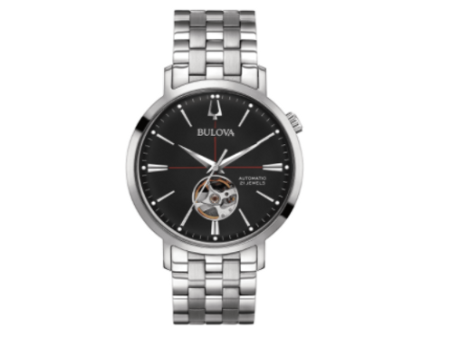 Bulova Classic Automatic Black Dial Stainless Steel Men's Watch