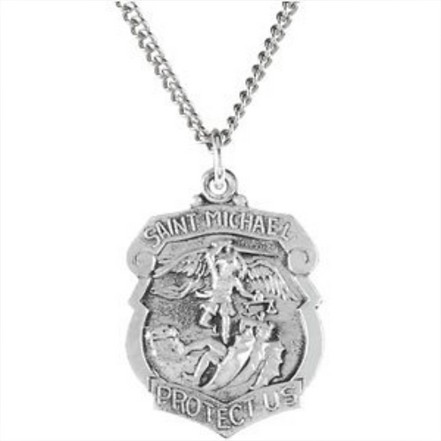 St. Michael Metal with Chain