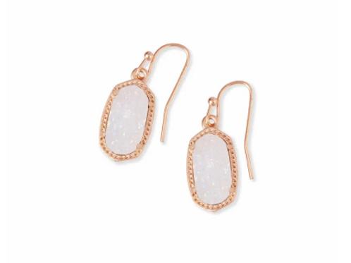 Kendra Scott - Lee Rose Gold Drop Earrings In Iridescent Drusy