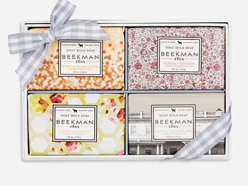 Beekman 4-PIECE TRAVEL SIZE BAR SOAP SET