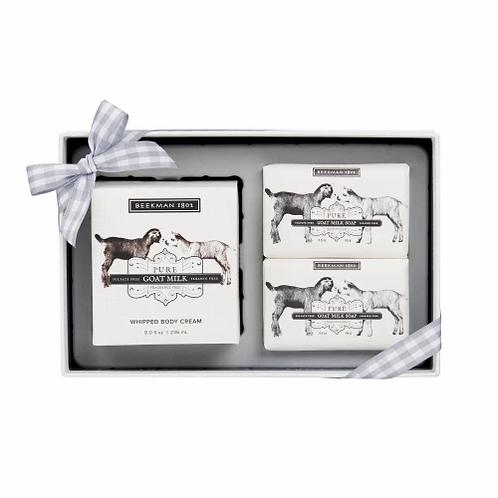Beekman Pure Goat Milk Soap + Body Cream Sampler