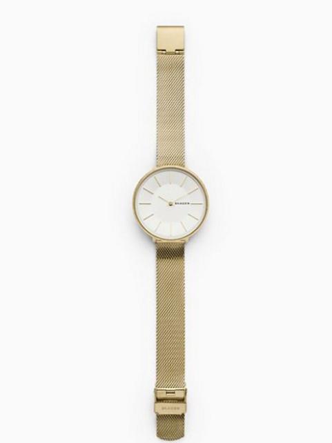 SKAGEN Karolina Gold-Tone Silk-Mesh Watch