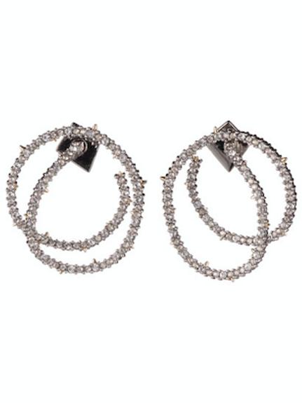 Alexis Bittar - Crystal Encrusted Coil-Link Earrings