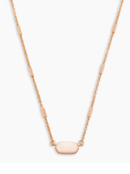 Kendra Scott - Fern Pendant Necklace In Rose Gold