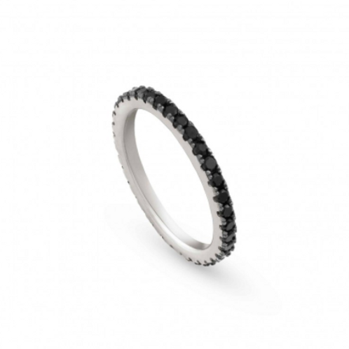 NOMINATION Sterling Silver Easy Chic Ring Black Cubic Zirconia