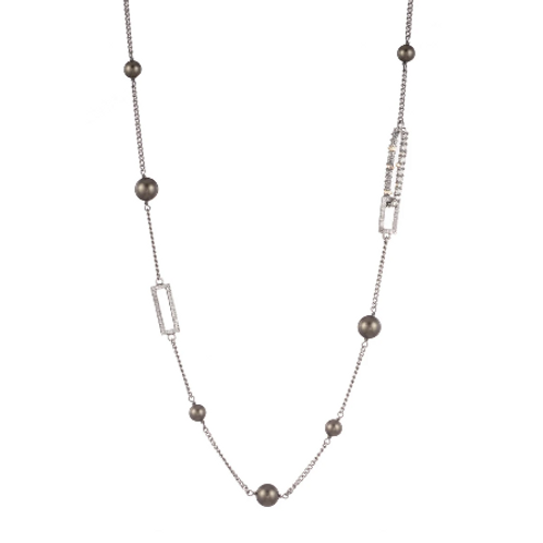 Alexis Bittar - Crystal Link with Pearl Station Necklace