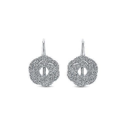 Gabriel & Co. 14K White Gold Diamond Knot Drop Earrings