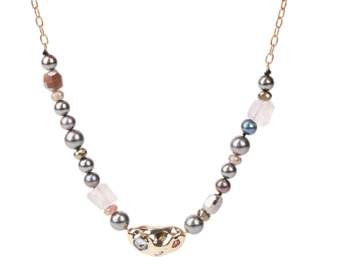 Alexis Bittar - Stone Studded Crumpled Beaded Necklace
