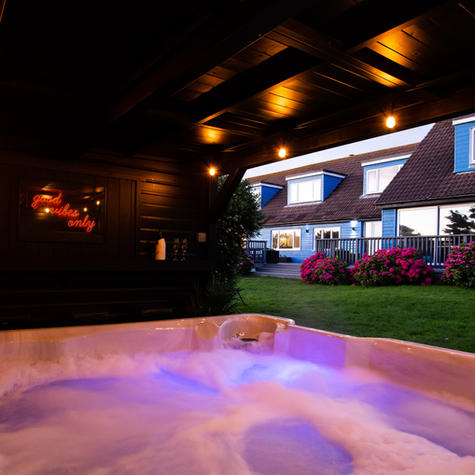 Hot Tub and Bar