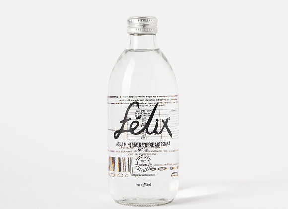 félix agua mineral y natural (caja de 24 botellas, 355ml)