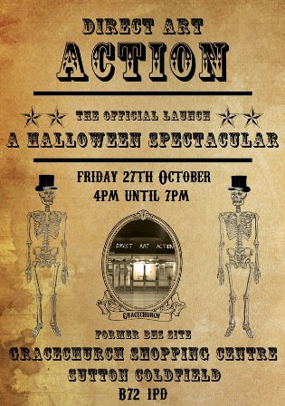 A Halloween Spectacular, the official launch party at Direct Art Action Sutton Coldfied.