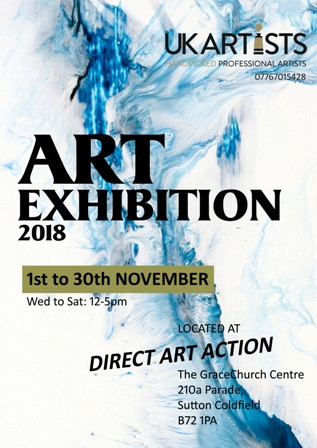 UK Artists Exhibition 2018 at Direct Art Action.