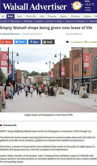 "Walsall Advertiser ""Empty shops being given new lease"""