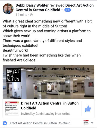 Direct Art Action Central in Sutton Coldfield still has space for even more artists!
