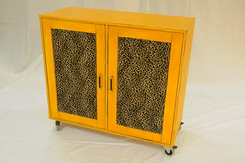 Cupboard, mustard colour
