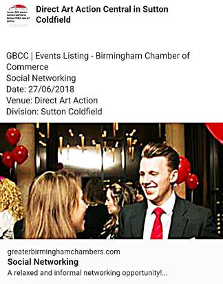 Chamber of Commerce networking event for Chamber members on Wednesday 27 June.