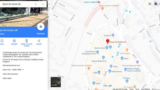 Direct Art Action UK is on Google Maps now !