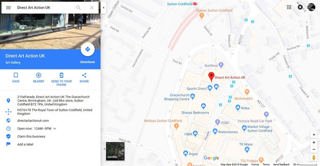 Direct Art Action Uk Is On Google Maps Now