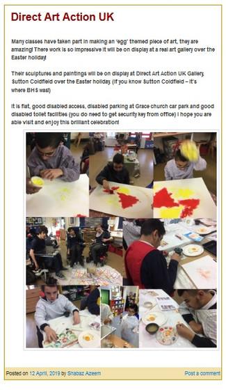 Wilson Stuart School at Direct Art Action