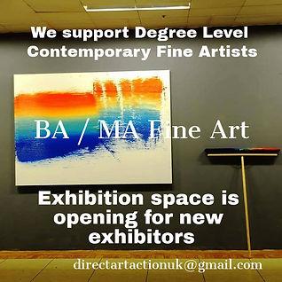 Direct Art Action UK Exhibition spaces a