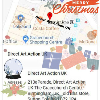 Merry Christmas from Direct Art Action UK
