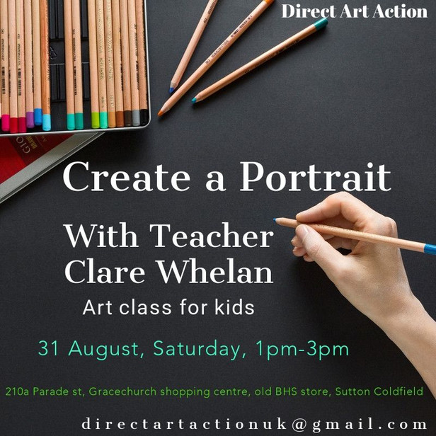 Create a Portrait with Teacher Clare Whelan