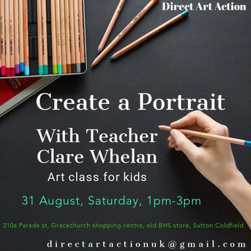 Create a Portrait with Teacher Clare Whelan