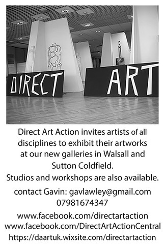 Direct Art Action invites artists and designers of all disciplines to exhibit their artworks at our