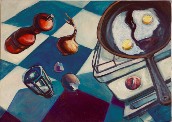 Fried eggs (lunch for two). Xenia (Oxana Charlot)