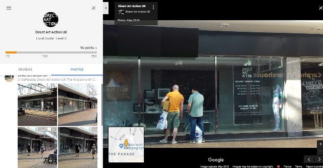 Direct Art Action UK, We are now a Local Guide on Google Maps.